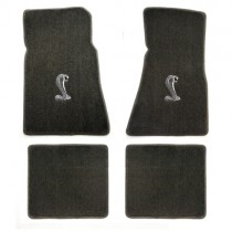 1979-1993 Mustang 4pc Grey Floor Mat Set w/ Cobra