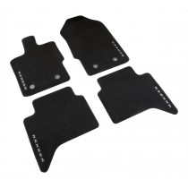 2019-2020 Ranger Super Crew Genuine Ford OEM Black 4pc Front & Rear Floor Mat Set