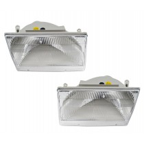 1987-1993 Mustang Stock Head Lamps Lights Headlights Clear Pair SAE/DOT