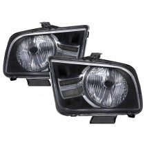 2005-2009 Ford Mustang (2010-2012 Style) Headlights Headlamps w/ Clear LH & RH
