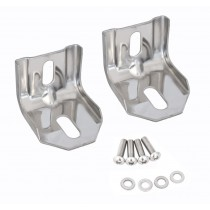 1983-1993 Ford Mustang Header Panel Support Brackets Polished Stainless Steel - Pair