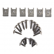 1979-1993 Ford Mustang Front Inner Fender Well Screws & Nuts; 22pc. Replaceme...