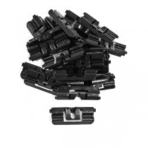 1979-1993 Ford Mustang Hatchback Rear Window Moulding Clips; 22pc. Replacemen...