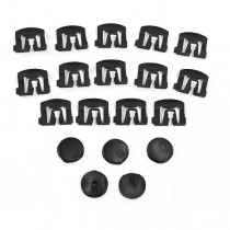 79-93 Mustang Coupe Rear Window Molding Clips (19 pcs.)