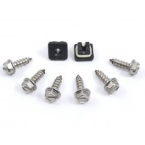 2005-2014 Ford Mustang License Plate Stainless Steel Screws Install Mounting Kit