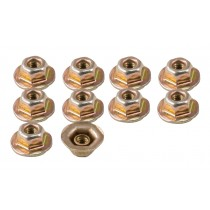 1987-1993 Mustang Rear Bumper Cover Flange Nuts - Set of 10