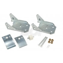 1982-1993 Mustang Upper & Lower Door Hinge Brackets, Tension Arms, Pin, & Roller
