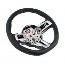 2015-2017 Mustang Shelby GT350 Silver Stitched Leather Steering Wheel Kit