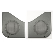 1987-1993 Mustang Door Panel Speaker Grills - Gray