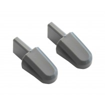 2005-2014 Ford Mustang Seat Tilt Latch Knobs Handles Gray - Pair