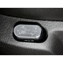2005-2010 Mustang Chrome Billet Lumbar Adjust Button Cover w Eject Design Button