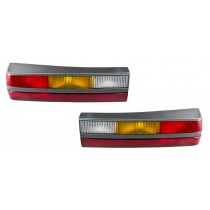 1985-1986 Ford Mustang LX GT OEM Complete Taillights Tail Lights with Housings LH RH