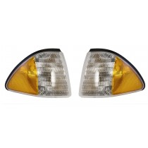 1987-1993 Ford Mustang Amber Side Markers w/ Clear Lens LH RH Pair