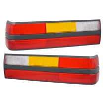 1985-1986 Ford Mustang LX GT Rear Tail Light Taillights Lenses Pair LH & RH