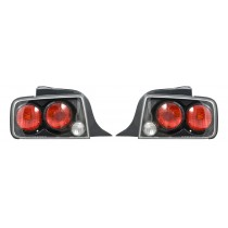2005-2009 Ford Mustang Carbon Fiber Tail Lights Taillights - Pair
