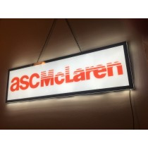 "ASC McLaren Slim LED Light Up Wall Sign 38"" x 11"""