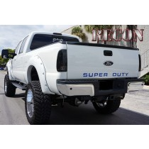 2008-2012 Ford Super Duty 3-Piece Raised Acrylic Emblem Insert Kit - Blue