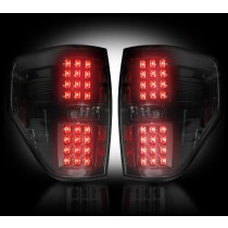 """2009-2014 Ford Raptor + F-150 Straight """"Style"""" Side Smoked LED Tail Lights"""