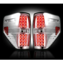 """2009-2014 Ford Raptor + F-150 Straight """"Style"""" Side Clear LED Tail Lights"""