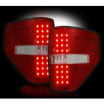"""2009-2014 Ford Raptor + F-150 Straight """"Style"""" Side Red LED Tail Lights"""
