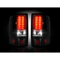 """2004-2008 Ford F-150 Straight """"Style"""" Side Smoked LED Tail Lights"""