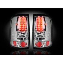 """2004-2008 Ford F-150 Straight """"Style"""" Side Clear LED Tail Lights"""
