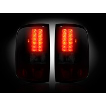 "2004-2008 Ford F-150 Straight ""Style"" Side Dark Red Smoked LED Tail Lights"