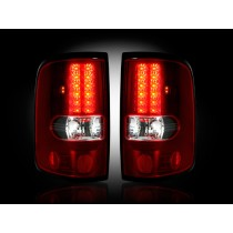 "2004-2008 Ford F-150 Straight ""Style"" Side Red LED Tail Lights"