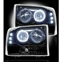 1999-2004 Ford Super Duty / Excursion Smoked Projector Headlights