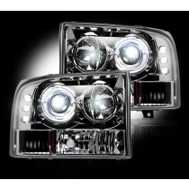 1999-2004 Ford Super Duty / Excursion Clear Projector Headlights