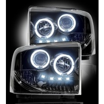 2005-2007 Ford Super Duty / Excursion Smoked Projector Headlights