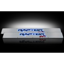 2009-2014 F150 SVT Raptor Brushed Billet Aluminum Door Sill Plates w/ Red or Blue Illumination