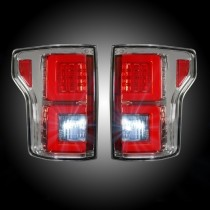 2015-2017 Ford F150 Truck RECON 264268CL Clear LED Rear Tail Lights Pair