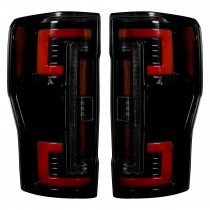 2017-2018 Ford F250 350 450 Superduty Truck RECON 264299BK Smoked OLED Rear Tail Lights Pair
