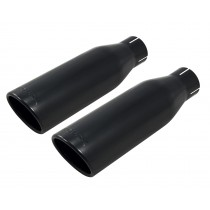 "2011-2014 Ford F150 Black Powdercoated Roush 4.5"" Exhaust Tips Pair 421248"