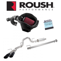 2015-2017 F-150 3.5L V6 Ecoboost Roush +68HP Cold Air Kit Calibration & Exhaust w/ Black Tips