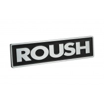 "Roush Mustang Metal Black w/ Brushed Letters 5.25"" x 1.25"" Emblem Ultra Rare"