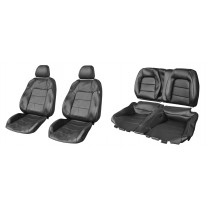 2015-2018 Mustang Coupe Genuine Ford Black Leather Front & Rear Seat Upholstery