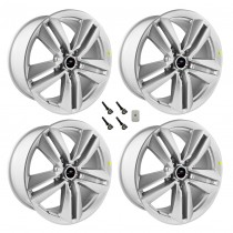 "2015-2017 Ford Mustang Ecoboost Performance Pack Silver Wheels 19"" x 9"" Set of 4"