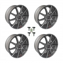 2013-2018 Focus ST M-1007K-FST1908MG Matte Gray Wheels w/ TPMS Kit