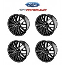 "2015-2020 Mustang GT OEM Staggered Gloss Black Wheels 19"" x 9"" & 9.5"" Set of 4"