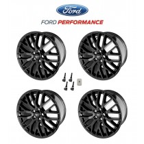 "2015-2020 Mustang GT OEM Staggered Gloss Black Wheels 19"" x 9"" & 9.5"" Set of 4 w/ TPMS"