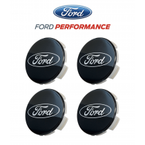 2015-2021 Ford Mustang Shelby GT350 FR3Z-1003-A Black Wheel Center Caps Set of 4