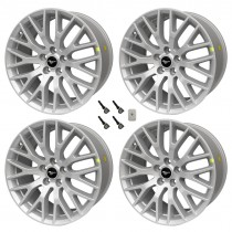 "2015-2017 Ford Mustang GT OEM 19"" x 9 x 9.5 Staggered Silver Wheels & TPMS Kit"