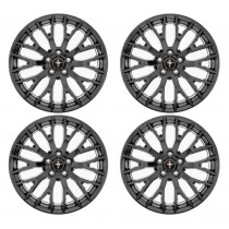 2015 Mustang GT Ford Racing 19 x 9 Performance Pack Wheels Satin Black - Set of 4