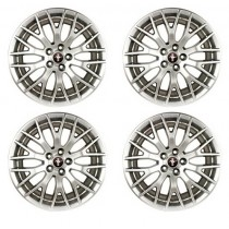 2015-2017 Mustang GT Ford Racing 19 x 9 Performance Pack Wheels Sparkle Silver - Set of 4