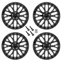 "2015-2020 Mustang GT OEM Staggered Black Wheels 19"" x 9"" & 9.5"" Set of 4 w/ TPMS"