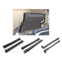 1994-2000 Ford Mustang Convertible Front Center & Rear Complete Side Rail Rubber Weatherstrip Kit
