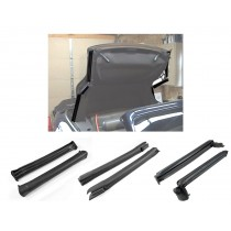2001-2004 Mustang Convertible Front Center & Rear Side Rail Weatherstrip Kit