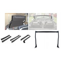 2001-2004 Ford Mustang Convertible Front Center & Rear Complete Side Rail Weatherstrip Kit